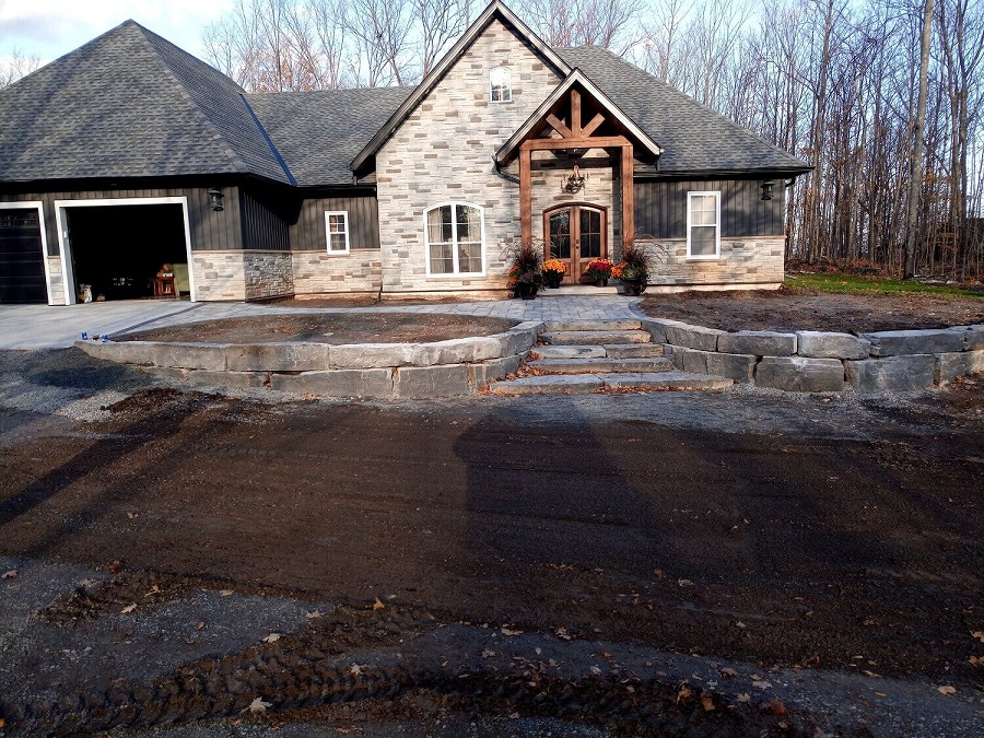 Residential commercial stone installation