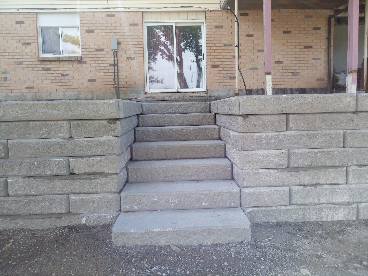 outdoor stairs stonework