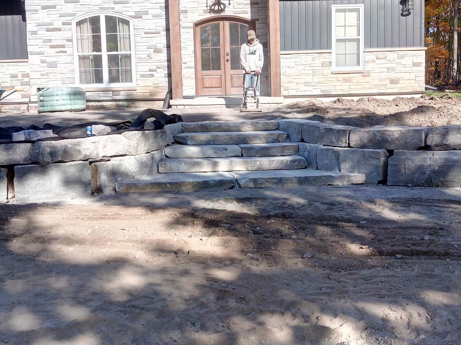 Residential stone installation