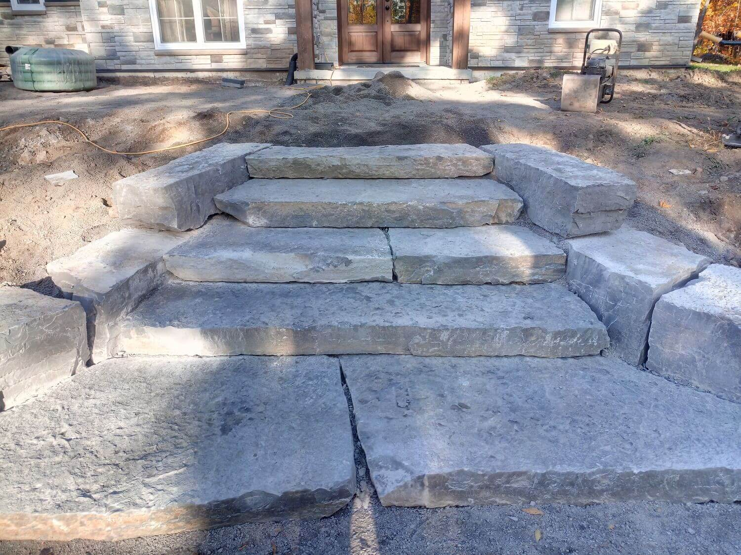 Residential stairs stonework